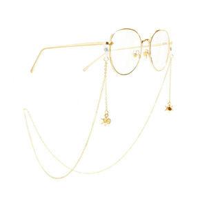 Round Crystals Pendant Neck Chain Holder Eyeglass